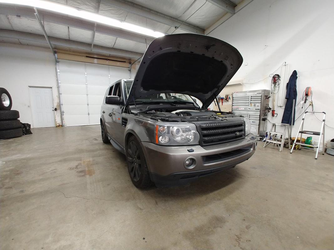 Vehicle / Hood Up in Shop