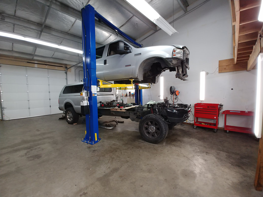 Frame Lifted off Truck