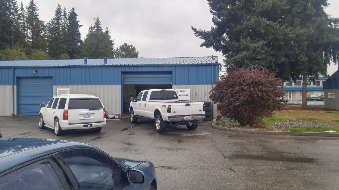 Vehicles Entering Garage / Shop