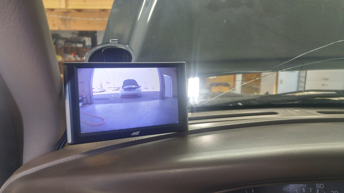 Backup Camera Screen on Windshield