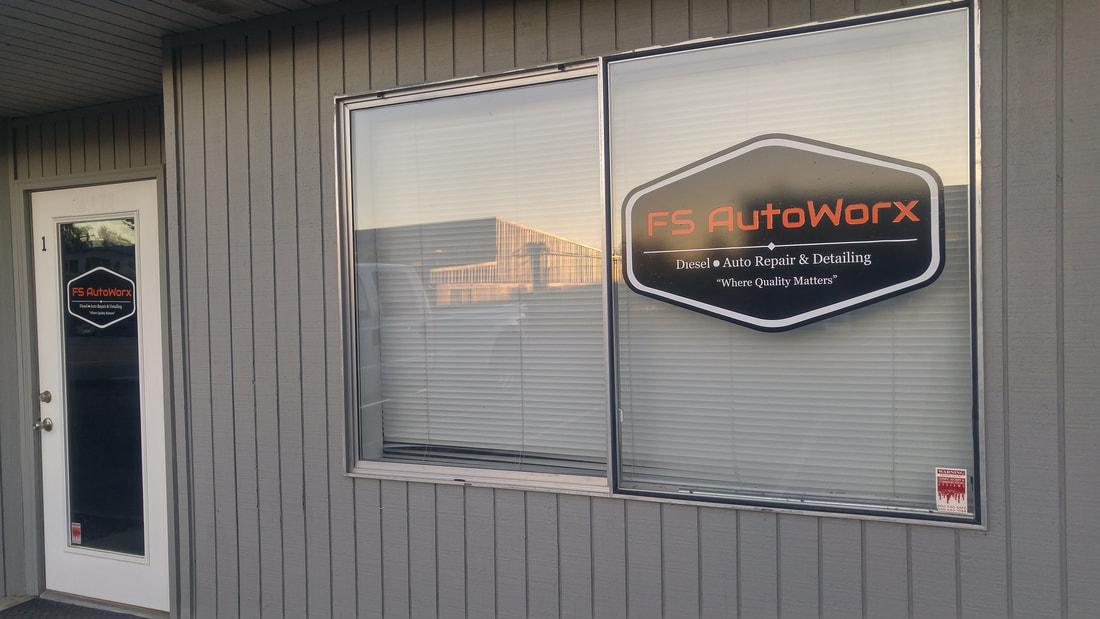 FS Autoworx, Window with Logo