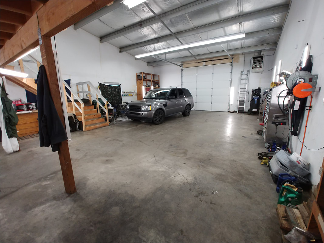 One Vehicle in Shop