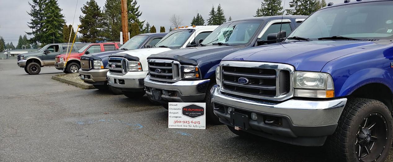 FS Autoworx, Business Card & Trucks